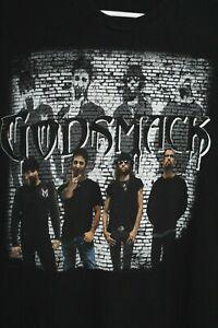 GODSMACK Tour 2010 T-Shirt Men's L Black 100% Cotton