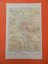 KAIRO und Umgebung Ägypten Pyramide Landkarte von 1895 Giseh Abusir Sakkara