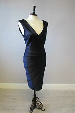 PHASE EIGHT MIDNIGHT SUNRAY DRESS IN SIZE 12 - GORGEOUS - FULLY LINED