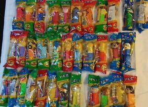 Lot of 34 Pez Dispensers- Looney Tunes/Simpsons/Winnie the Pooh/Sesame Street