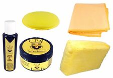 Carnauba car wax kit All Natural No harsh chemicals. Paste wax & Scratch remover
