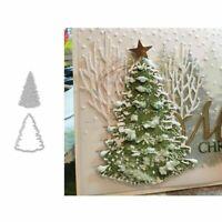 Christmas Tree DIY Metal Cutting Dies Scrapbook Mould Stencil Craft Acces