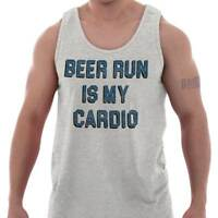 Beer Run Is My Cardio Funny Workout Gym Gift Adult Tank Top T-Shirt Tees Tshirt