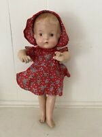 """Vintage Unmarked Composition Doll 14"""""""