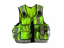 More details for hi vis tac vest traffic utility equipment over jacket ohvtv77b