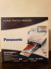 Open Box. PANASONIC Home Photo Printer KX-PX10M with remote control.