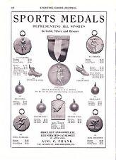 1930 Sporting Goods Journal Ad ~ Gold Silver Bronze Medals ~ Firestone Footwear