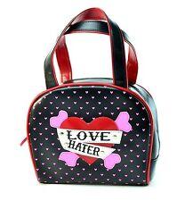 Heart Love Hater Black Purse Punk Gothic Rockabilly Teen Valentine Gift