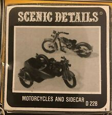 """Woodland Scenics #D228 """"Motorcycles & Sidecar"""" HO scale Craftsman Kit"""