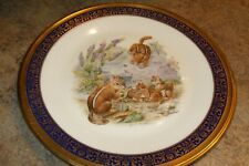 Lenox Boehm Woodland Wildlife Plate Eastern Chipmunks 1976 No Box