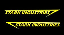 2 x stark Industries, autocollants, Iron Man sticker