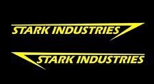 2 x Stark Industries, pegatinas, Iron Man sticker