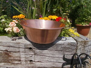 Lovely 8ltr French Vintage Copper Jam Pan YR1/1