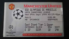 Ticket Marseille Manchester United 1999 2000 Billet Place 99 00 Champion League