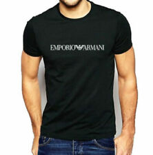 BNWT EMPORIO ARMANI Black Muscle fit T-shirt Short Sleeve Center New UK Stock