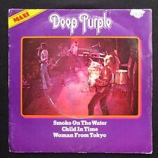 "DEEP PURPLE Smoke On The Water DEMO UK Press 7"" 45 VINYL PICTURE SLEEVE EX"