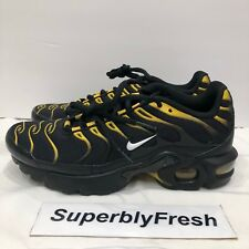 Nike Air Max Plus TN Tuned GS Blk/Yellow/Whte/Vivid Sulfur 655020-057 Size 5.5Y
