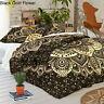 Black & Gold Ombre Mandala Duvet Cover Bedding Set King Size Indian Quilt Cover