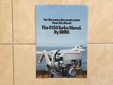 NEW BMW Engine D150 Turbo Diesel Brochure Catalog Marine, 8/81