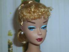 Barbie Vintage Repro Blonde Poodle Bangs Ponytail ~ Unboxed ~ Free U.S Ship