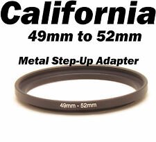 Metal 49mm-52mm Step-Up Lens Filter Ring Adapter Canon Nikon Sony Pentax 49- 52