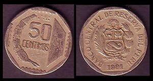 ★★ PEROU / PERU ● 50 CENTIMOS 1991 ● (ref55) ★★