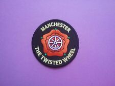 "MOD SCOOTER SKA SOUL SEW ON & IRON ON PATCH:- MANCHESTER ""THE TWISTED WHEEL"""