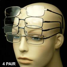 Reading glasses men women metal 4 pair lens pack lot power new