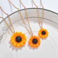 Mode schmuck Sonnenblume Halskette Anhänger Süss Exquisite Kette Damen Geschenk
