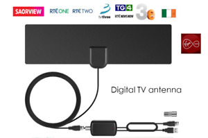 Saorview Aerial HD Digital TV Indoor Aerial with USB signal Booster /Amplifier