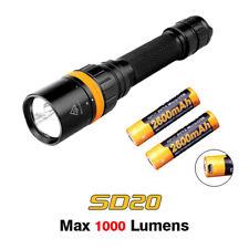 Fenix SD20 Cree LED Magnetic Ring Scuba Diving Flashlight Torch + USB Battery