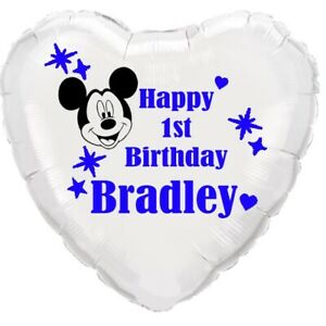 Mickey mouse PERSONALISED foil balloon birthday ANY AGE Disney party