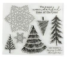 Sello de silicona Clara álbum Recortes Tarjeta de árbol de Navidad Copo De Nieve