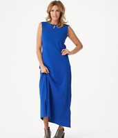 Denim & Co. Essentials Regular Perfect Jersey Maxi Dress - Lapis Blue - Large