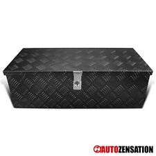 "30"" Heavy Duty Black Aluminum Tool Box Truck Storage Trailer Organizer w/ Lock"