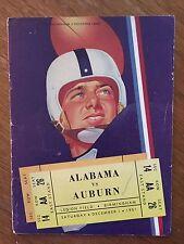 1951 IRON BOWL Alabama vs Auburn Historic Series Resumed 4th Football Program!!!