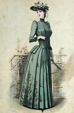 Fashion Mode Toche Mellerio Chapeau Fleur Paris Elegant Gourbaud Lithographie