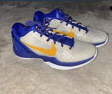 Nike Zoom Kobe VI 6 Lakers Home NDS Del Sol-Neutral Gray Sz 10 #429659-104