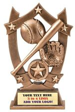 Little League 3 Dimension Baseball Softball Trophy Resin Award Free Text Mssr01