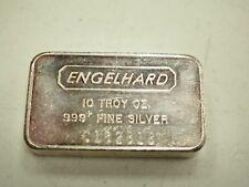 10 oz .999+ Vintage Engelhard Silver Bar - # 2818