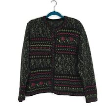 Nomadic Traders Brass Knotted Butron Down Cardigan Sweater Ramie Cotton Large
