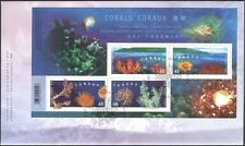 Canada 2002 (HK Joint Issue) Coral/Marine/Nature/Conservation m/s FDC (b9512)
