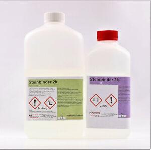✔ Bindemittel für Quarzkies Steinteppich für Innen 2-K 1,2kg UV