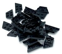 Lego 25 New Black Wedges Plates 2 x 4 Dot Pieces