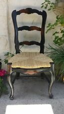 COUNTRY FRENCH  DINING / DESK  CHAIR, RUSH SEAT, SOLID MAHOGANY