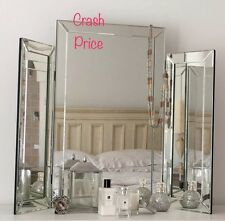 Glass Triple Dressing Table Mirror , Contemporary and  Stylish, *Uk Best Seller*