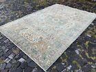 Large rug, Turkish rug, Vintage rug, Handmade rug, Wool, Carpet | 6,4 x 9,5 ft