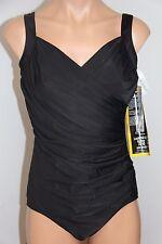 NWT Womens Miraclesuit Swimsuit 1pc swimwear Plus Sz 20W Sanibel Black