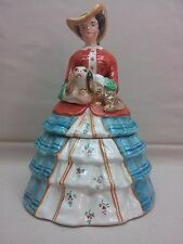 VINTAGE German Porcelain VICTORIAN FIGURAL LADY Half Doll DRESSER BOX Powder Jar