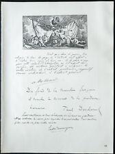 1926 - Lithographie - Citation de Millerand, Deschanel, Doumerge (Guerre 14 18)